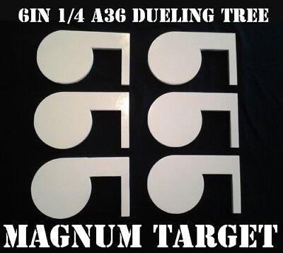 Rimfire 22LR Steel Shooting Range Targets - Dueling Trees - Metal Pistol Paddles ()