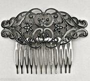 Antique Silver Hair Comb