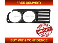 Bmw 3 E30 1983-1990 Front Driver Side Headlight Grille Black Saloon Estate Coupe