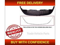 VAUXHALL ASTRA J 2012-2015 FRONT BUMPER GRILLE CHROME MOULDING 5DR ONLY NEW FREE DELIVERY