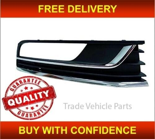 Trade Vehicle Parts VK4198 Front Bumper Fog Grille W//Lamp Hole Two Chromes Right