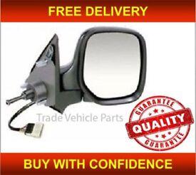 CITROEN BERLINGO 1996-2008 DOOR WING MIRROR HEATED MANUAL BLACK DRIVER SIDE NEW FREE DELIVERY