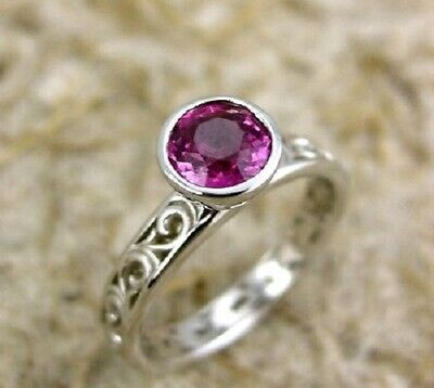 simple engagement ring 1carat one purple round