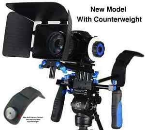 eimo DSLR Rig Movie Kit Shoulder Mount Rig with Follow Focus and Matte Box for A
