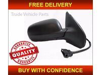 VW GOLF MK4 1998-2003 DOOR WING MIRROR HEATED ELECTRIC BLACK DRIVER SIDE NEW FREE DELIVERY