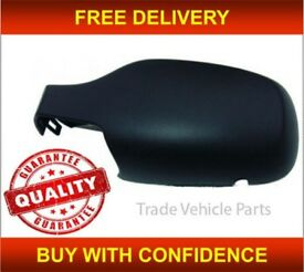 RENAULT CLIO 2005-2009 DOOR WING MIRROR COVER BLACK PASSENGER SIDE NEW FREE DELIVERY