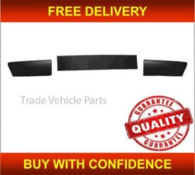"""RENAULT CLIO 2009-2012 FRONT BUMPER MOULDING SET 3 PIECES 15"""" & 16"""" WHEEL MODEL NEW FREE DELIVERY"""