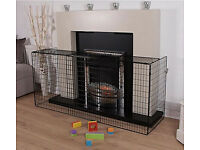 Extend Nursery Universal Black Fireguard Kids Child Safety Fire Screen Guard