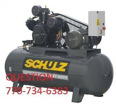 Schulz Air Compressor 10 Hp 3 Phase 120 Gallon40 Cfm New