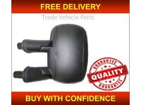 Door Wing Mirror Cover Black N//S Left Side Fiat Doblo 2010-2015 New High Quality