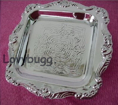 "Lovvbugg Silver Tray Only for 18"" American Girl Doll Food Accessory"