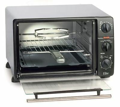 Elite Cuisine ERO-2008N 23-Liter Toaster Oven Broiler with R