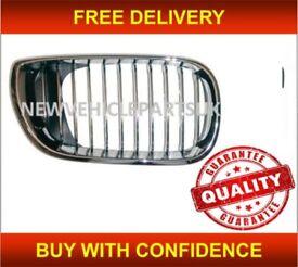 Bmw 3 E46 2001-2005 Front Kidney Grille Driver Side Black/Chrome 4/5 Door New