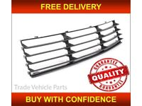 VW PASSAT B5.5 2000-2005 FRONT CENTRE BUMPER GRILLE MAT-BLACK HIGH QUALITY NEW FREE DELIVERY