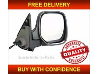 CITROEN BERLINGO 1996-2008 DOOR WING MIRROR MANUAL BLACK DRIVER SIDE NEW HIGH QUALITY FREE DELIVERY