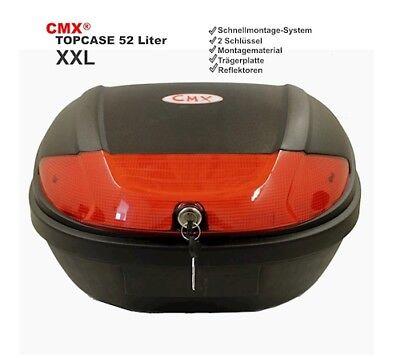 XXL 52 Liter Roller Top Case Rollerkoffer Topcase schwarz universal NEU
