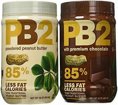 NEW PB2 Powdered Peanut Butter Bundle 16 oz Pack of 2 FREE SHIPPING