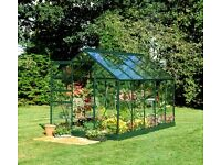 6ft x 10ft green aluminium frame and polycarbonate glazing greenhouse in original package