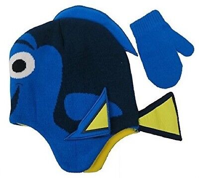 Baby Toddler Finding Dory Hat and Mittens Set