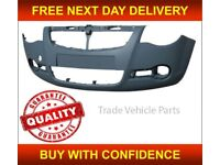 Trade Vehicle Parts OP5080 Front Bumper Primed Compatible With Vivaro 2007-2014