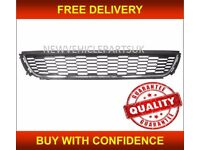 VW POLO 2009-2014 FRONT BUMPER GRILLE CENTRE LOWER WITH CHROME MOULDING TRIM NEW FREE DELIVERY