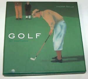 Golf Boxed Postcard Set by Artist Vincent Scilla