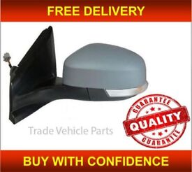 FORD MONDEO 2010-2014 DOOR WING MIRROR HEATED ELECTRIC PRIMED LEFT POWER FOLD NEW FREE DELIVERY