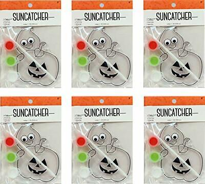 Suncatcher Craft Kits For Kids- 6 Complete Kits- Halloween Pumpkin-For Parties! - Halloween Craft For Kids