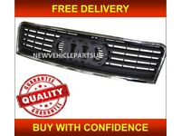 AUDI A6 2002-2005 FRONT GRILLE CENTRE MAIN TOP RADIATOR WITH CHROME TRIM NEW FREE DELIVERY