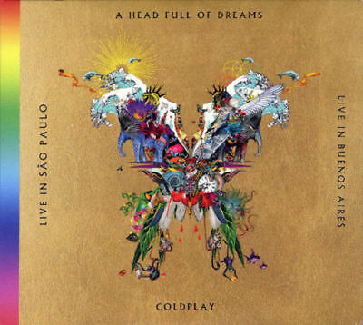 Coldplay A Head Full Of Dreams Live in Buenos Aires, San Paulo [2CD + 2DVD] NEW