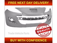 PEUGEOT 207 & 207CC 2009- FRONT BUMPER PRIMED COMPLETE WITH BRACKETS NEW FREE DELIVERY