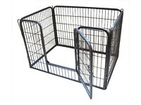 Heavy Duty Dog/ Puppy Play Pen/ Rabbit Enclosure, Large, Gunmetal Grey