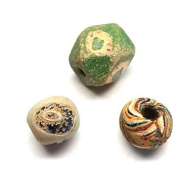 Roman Glass Beads, 4th-6th Cent. AD, Glass 13 to 15, Intact