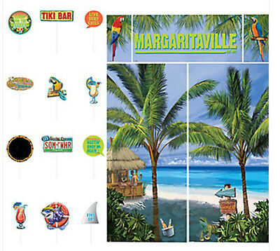Jimmy Buffett's MARGARITAVILLE  Scene Setter beach party & 12 photo booth props