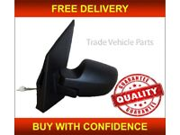FORD FIESTA 2005-2008 DOOR WING MIRROR MANUAL BLACK PAINTABLE PASSENGER SIDE NEW FREE DELIVERY