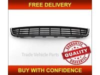 VW GOLF MK6 2008-2013 FRONT CENTRE BUMPER GRILLE CHROME BRAND NEW HIGH QUALITY NEW FREE DELIVERY