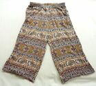 American Eagle Outfitters Floral Viscose Pants for Women