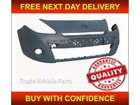 RENAULT CLIO 2009-2012 FRONT BUMPER FOR 16In WHEEL PRIMED NEW INSURANCE APPROVED FREE DELIVERY