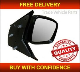 VW TRANSPORTER 2004-2009 DOOR WING MIRROR MANUAL BLACK DRIVER SIDE NEW HIGH QUALITY FREE DELIVERY
