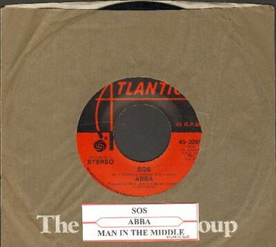 ABBA - SOS/Man In The Middle Vinyl 45 rpm record Free Ship