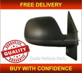 VW TRANSPORTER 2010-2015 DOOR WING MIRROR MANUAL BLACK DRIVER SIDE NEW HIGH QUALITY FREE DELIVERY