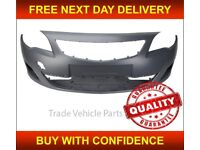 Front Bumper Primed With Sensor Holes Vauxhall Astra J 5Dr 2009-2012 Brand New