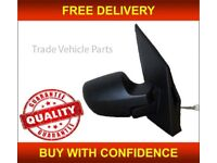 FORD FIESTA 2005-2008 DOOR WING MIRROR MANUAL BLACK PAINTABLE DRIVER SIDE NEW FREE DELIVERY