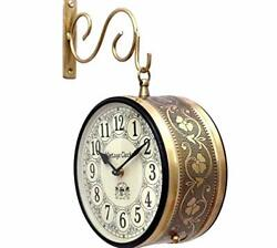 Iron Vintage Look Double Side Railway Style Clock for thanksgiving day