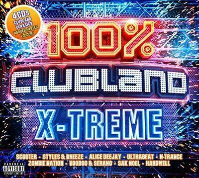 100% Clubland  X-Treme   4 x CD  - (New & Sealed)  Hardcore Dance Nineties