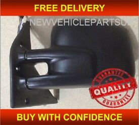 VW TRANSPORTER 1991-2004 DOOR WING MIRROR HEATED ELECTRIC BLACK PASSENGER SIDE NEW FREE DELIVERY