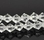 6mm Faceted Glass Beads