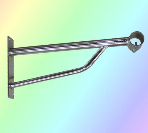 clothes rail bracket home furniture diy ebay. Black Bedroom Furniture Sets. Home Design Ideas