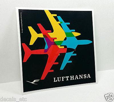 Lufthansa Vintage Style Travel Decal   Vinyl Sticker  Luggage Label