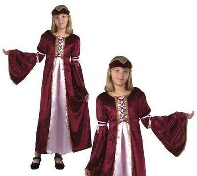 Kinder Renaissance Prinzessin Kostüm Mädchen Maid Kostüm Mittelalter Buch - Renaissance Prinzessin Kinder Kostüm
